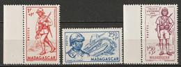 Madagascar 1941 Sc B8-10 Yt 226-8 Set MNH** - Unused Stamps
