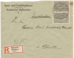 Germany 1923, Registered Letter Sent 08/22/1923 From Hahneklee - Brieven En Documenten
