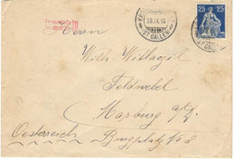 Switzerland 1916, Letter Sent From St. Gallen On 09/28/1916 To Marburg. German Censorship - Covers & Documents