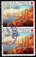 France Poste Obl Yv:2733 Mi:2867A Francois Nardi Toulon Paire (TB Cachet Rond) - Gebraucht