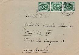 Allemagne - ESC De Wetzlar Pour Paris (75) - 27 Avril 1954 - Timbre 10p YT 14 - 2 CAD - Lettres & Documents