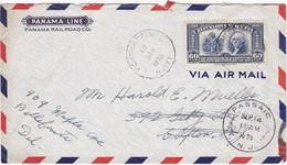 Haïti - LAC De Port-au-Prince Pour Clifton (New Jersey - USA) - CAD 12 Septembre 1939 - Timbre 60c Constitition USA - Haití