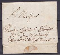 L. Datée 1696 De TOURNAY Pour BRUXELLES - 1621-1713 (Spanish Netherlands)