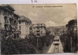 Cpa, Lausanne Funiculaire Lausanne-Ouchy, éd Payot (néobromure Breger) écrite En 1917, SUISSE - VAUD - VD Vaud