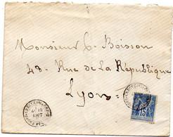 Saône-et-Loire - Env Sans Corr Affr N° 90 Obl Tàd Type 18 Crèche-sur-Saône - 1849-1876: Periodo Classico