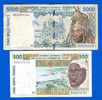Niger  2  Billets   Dans  L'etat - Niger