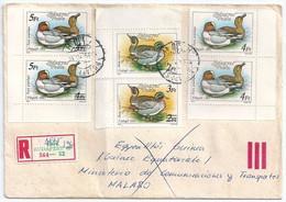 C0481 Hungary Fauna Animal Duck Overprinted Registered - Patos