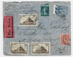 N° 260X3+199+205+239 LETTRE AVION TOULOUSE 1932 POUR CHILE CHILI - 1921-1960: Modern Tijdperk