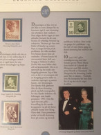 Denmark, Faroe Islands, Greenland - Queen Margrethe 11 Stamps On 4 Pages With Text MNH(**) - Familles Royales