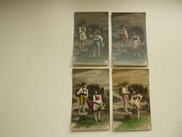 Beau Lot De 20 Cartes Postales ( 5 Series De 4 ) ( 12 Pas écrite  ) De Fantaisie    Mooi Lot Van 20 Postkaarten Fantasie - 5 - 99 Cartes