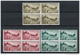 Guinea Española 1955. Edifil 347-49 X 4 ** MNH. - Guinea Española