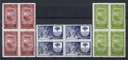 Guinea Española 1956. Edifil 362-64 X 4 ** MNH. - Guinea Española