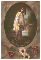 CPA - Carte Postale -Belgique-Fantaisie- Cueillies Pour Vous Avec Une Jeune Fille  VM35057 - Escenas & Paisajes