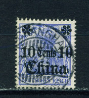 GERMAN PO'S IN CHINA  - 1905 Germania Deutches Reich Definitive 10c On 20pf Used As Scan - Bureau: Chine