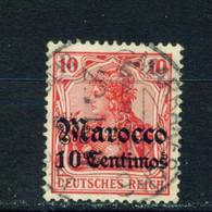 GERMAN PO'S IN MOROCCO  - 1906-11 Germania Deutches Reich Definitive 10c On 10pf Used As Scan - Bureau: Maroc