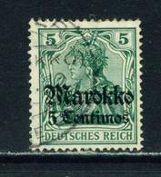 GERMAN PO'S IN MOROCCO  - 1911-18 Germania Deutches Reich Definitive 5c On 5pf Used As Scan - Deutsche Post In Marokko