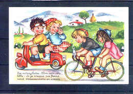 Carte Illustrée. Les Motocyclistes - Escenas & Paisajes