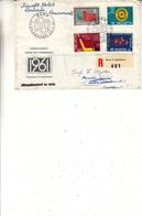 Suisse - Lettre Recom De 1961 - Oblit Bern - Cachet De Aberdeen - Hockey - Téléphone - Ajout Timbre Automate - Covers & Documents