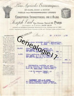 75 24129 PARIS SEINE 1922 JOSEPH VIAL Comptoir Industriel De L Alfa -- Coco Rotin Rue Etienne Marcel - Landbouw