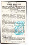 DP Lid COO - Oudstrijder - Karel Vulsteke / Deprey ° Proven Poperinge 1877 † 1948 - Santini