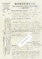1816 Emprunt Joseph POUGUET Meunier Moulins De Bersaillin à Vuillafans / Timbre Fiscal D 78 / 25 Doubs / Près Lods - Historische Documenten