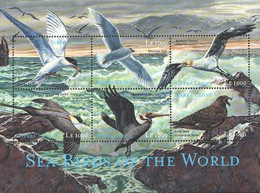 Sierra Leone 2000 MNH SS, Sea Birds, Caspians - Marine Web-footed Birds