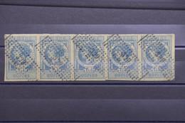 FRANCE - Bande 5 Fiscaux Avec Oblitération Rectangle De Points  GC 329 - L 102631 - Fiscale Zegels