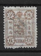 1894 CHINA DOWAGER 6 Candarin USED CHAN27 SCV $60 - Gebruikt