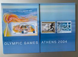 14176 - Feuillet Souvenir Flamme Athène 13.08.2004 & Lausanne Comité International Olympique 29.08.2004 - Verano 2004: Atenas