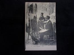 Ile De Sein. Arts. Le Peintre Henri Royer Et Son Modèle. Editeur Neurdin.Voir 2 Scans. - Ile De Sein