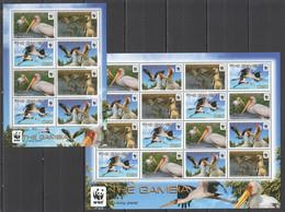 AA440 2011 THE GAMBIA WWF BIRDS YELLOW-BILLED STORK #6499-502 MICHEL 38.4 EURO 1KB+1SH MNH - Nuevos