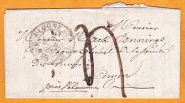 1840 - LAC De Boulogne Sur Mer, Pas De Calais Vers Anzin, Nord - Via Valenciennes & Arras - Taxe 4 - Cad Arrivée  Règne - 1801-1848: Vorläufer XIX