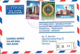 Lebanon Registered Air Mail Cover Sent To Germany 1-12-1999 - Lebanon