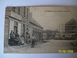 Ancienne Carte Postale Quittebeuf Eure Hôtel Du Soleil D'or - Non Classificati