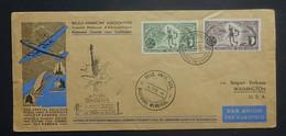 BELGIE  1946   Luchtpost  Speciale Vlucht   België / USA      Zie Foto's - Brieven En Documenten