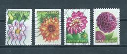 2013 Sweden Complete Set Dahlia,flowers,blümen Used/gebruikt/oblitere - Gebruikt
