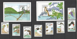 AA453 1988 GRENADA FAUNA BIRDS #1744-51 MICHEL 27 EURO 1SET+2BL MNH - Marine Web-footed Birds