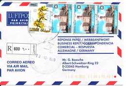 Lebanon Registered Air Mail Cover Sent To Germany 12-10-1999 - Lebanon