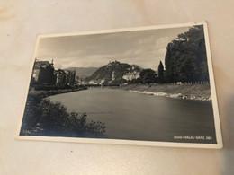 Austria Österreich Graz River Bridge Real Photo RPPC Alfred Steffen Erika Verlag 13751 Postkarte Post Card POSTCARD - Graz