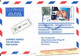 Lebanon Registered Air Mail Cover Sent To Germany 2000 - Lebanon