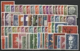SARRE SAAR N° 361 à 430 COTE 114.4 € NEUF ** MNH. Années Complètes 1957 à 1959. Vendues à 14% De La Cote. TB - Unused Stamps