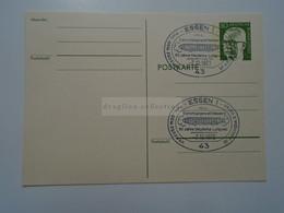 D182274    Deutschland  Postkarte Ganzsache  Stamped Stationery   Essen `60 Jahre Deutsche Luftpost` 1973 - Cartes Postales - Oblitérées