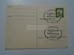 D182275    Deutschland  Postkarte Ganzsache  Stamped Stationery  Düsseldorf 1973 Briefmarken Ausstellung Airplane - Cartes Postales - Oblitérées