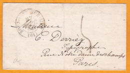 1841 - LAC De 2 Pages En Anglais De Boulogne Sur Mer, Pas De Calais Vers Paris  - T 5 - Cad Arrivée Bleu - 1801-1848: Vorläufer XIX