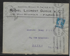 France Timbres Perforés Sur Lettre - 1921-1960: Modern Tijdperk