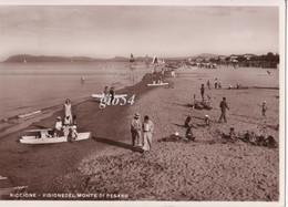 Riccione Visione Del Monte Di Pesaro Spiaggia Bollo Staccato Fg - Otras Ciudades