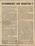 Guerre 39 45 Collaboration Tract Comment S'en Sortir Avec Demande D'admission Au Francisme Maréchal Pétain Vichy - Historical Documents
