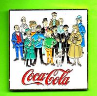 Gros Pin's BD Coca-Cola Tintin (Chandail Vert)  Milou Haddock Dupont Dupond Tournesol + - #677 - Comics