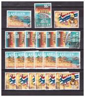 Antillen / Antilles 1988 X7 Bridge Harbour Flag Used - Curacao, Netherlands Antilles, Aruba