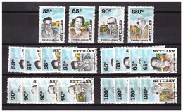 Antillen / Antilles 1988 X5 Famous People Used - Curacao, Netherlands Antilles, Aruba